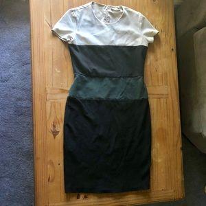 MaxMara Color Block Jersey Dress
